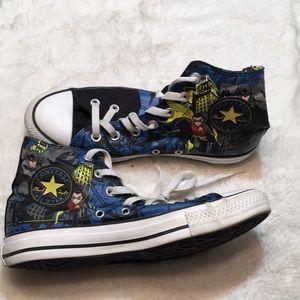 Converse Batman sneakers size 8 woman